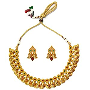 Daamak Jewellery Mango Leaf Traditional Neckalce Set jewellery Set