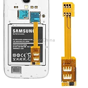 Dual SIM Card Adapter for Samsung Galaxy S5/G900, S IV/i9500, S III/i9300, Note III/N9000, Note II/N7100, Mega 6.3/i9200, Grand 2/G7106