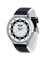 Helix Aviator Analog White Dial Men's Watch - 03HG01