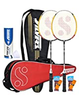 Silver's Reflex Badminton Kit Combo 2 with White Nylon Shuttlecock