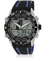 Dmf-005-Bl01 Black/Black Analog & Digital Watch Flud