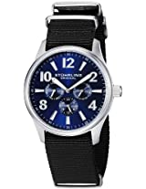 Stuhrling Original Men's 406.331OB6 Aviator Tuskegee Hawk Quartz Day and Date Blue Dial Watch