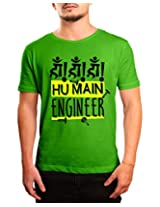 Bushirt Men's Round Neck Cotton T-Shirt (DN00137 - Hu Main Engineer_Green_X-Large)