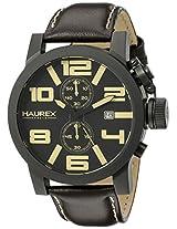 Haurex Italy Men's 3N506UTM TURBINA II Analog Display Quartz Brown Watch