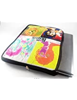 Devarshy Limited Edition Digital Print Computer Quilted 17 Inch Notebook Pouch/ Laptop Sleeve - The Beatles