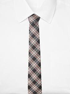 Original Penguin Men's Clarkston Plaid Tie, One Size (Red Coral)