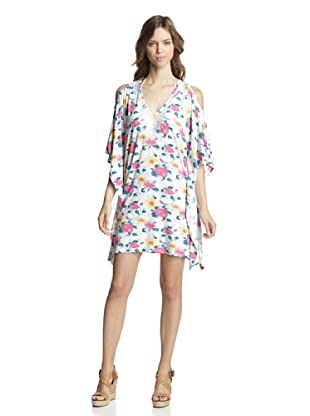 Valery Blu Women's Printed Tunic with Beading (Yellow/Floral)