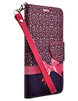 GALAXY WIRELESS Samsung Galaxy Note 5 Case Cheetah Magnetic Wallet Pouch with Built In Kickstand for Samsung Galaxy Note 5 Case Plus Stylus Pen- Hot Pink