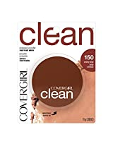 CoverGirl Clean Pressed Powder Creamy Beige 150, 0.39 Ounce Pan