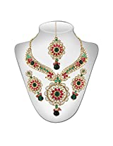 Niki Jewels Necklace with Mangtikka for women (Multicolour) (010 79 2590)