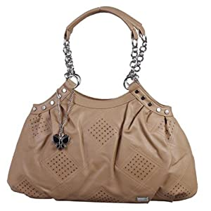 Butterflies Camel Handbag