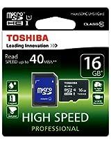 Toshiba MicroSDHC 16 GB Class 10 UHS-1 Memory Card (Water Proof & X-Ray Proof)