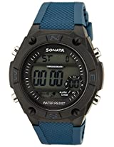 Sonata Superfibre Digital Grey Dial Men's Watch - 77033PP03