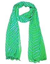 Famacart Women's Ethnicwear Chiffon Plain Green Dupatta