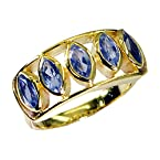 Riyo Admirablestar Iolite 18-Kt Y Gold Fashion Purity Ring Jewelry Gpriol8-38004