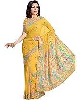 Fabulous Yellow Saree