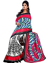 Vibes Women's Champa Bhagalpuri Saree with Blouse (S30-5622_Multi-Coloured)