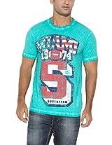 Ferrous Mens Cotton T-Shirt -Light Green, (X-Large)