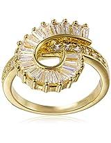 Shaze Ring for Women (Gold) (ROLLER COASTER RING GOLD 5275:7)