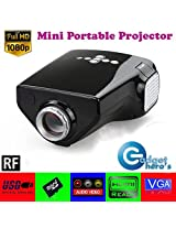 Gadget Hero'sTM UC33+ Mini HD Multimedia LED Projector. Black. With FREE Nano Tripod Worth Rs. 400/-