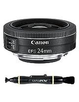 Canon EFS 24mm f/2.8 STM Prime Lens for Canon APS-C Size Body + Lenspen NLP-1 Cleaning Brush (Black)