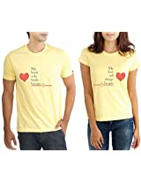 LaCrafters Couple Tshirt - Heart Beat Yellow_Large