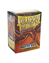 Dragon Shield Matte Red 100 Deck Protective Sleeves in Box, Standard Size for Magic he Gathering (66