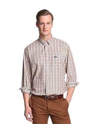 Façonnable Men's Classic Check Shirt (Green)