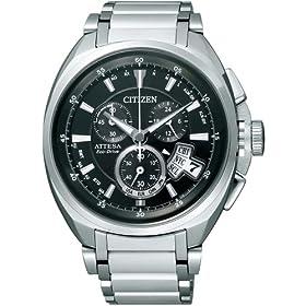CITIZEN (シチズン) 腕時計 ATTESA アテッサ Eco-Drive エコ・ドライブ 電波時計 ワールドタイム クロノグラフ ジェットセッター ダイレクトフライト ATD53-3011 メンズ 福山雅治着用モデル