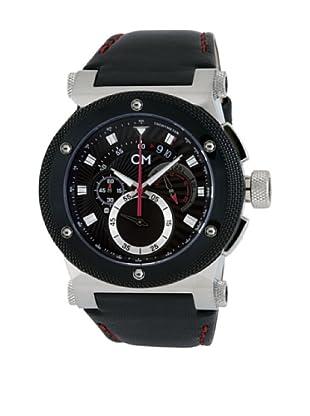 Carlo Monti Herren Armbanduhr Stahl/schwarz/Leder CM701 122