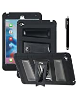 iPad Mini 4 case, E LV iPad Mini 4 (SHOCK PROOF DEFENDER) Slim Case Cover - Impact Protection **NEW** Ultimate protection from drops and impacts for iPad Mini 4 [BLACK]