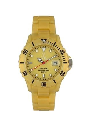ToyWatch FLP02GD - Reloj Unisex movimiento de Cuarzo con correa de plástico dorado