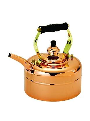 Old Dutch International 3-Qt. Tri-Ply Copper Windsor Whistling Tea Kettle