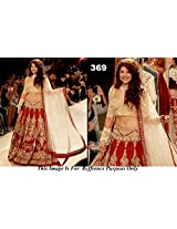JACQUELINE FERNANDEZ RED AND GOLD BRIDAL LEHENGA