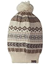 Muk Luks Women's Reversible Hat with Pom-Pom