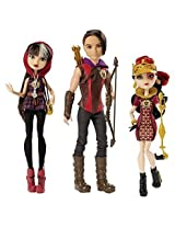 Ever After High Tri Castle On 3 Pack With Exclusive Hunter Huntsman, Cerise Hood, And Lizzie Hearts Dolls