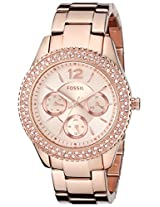 Fossil Stella Multifunction Stainless Steel Women's Watch - Rose ES3590