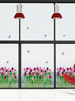 Vinilo Adhesivo tulipanes de sueno Multicolores
