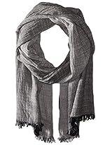 Saro Lifestyle Women's Pinstriped Design Shawl, Black, One Size
