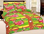Beautiful Sanagari Printed Double Bed Sheet With 2 Pillow Covers With Two Pillow Covers