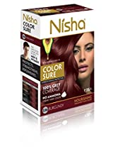Nisha Color Sure Hair Color (40g, Burgundy)