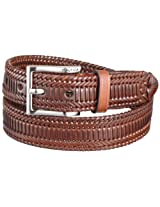 Nautica Men's Laced Dress Braid Belt,Brown,42