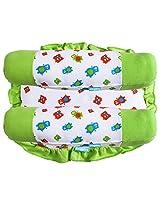 Snuggles bolster pillow + square pillow - monster prints, white