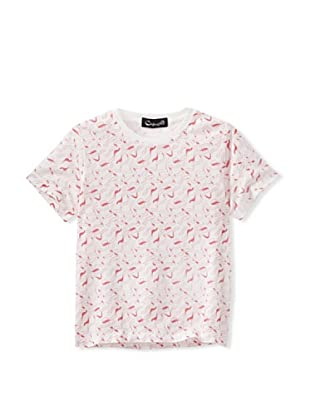 A for Apple Rat T-Shirt with Apple Peel Print (White)