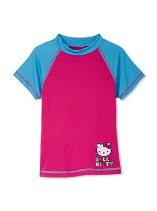Hello Kitty Girl's 2-6X Short Sleeve Rashguard Swim Shirt (Pink)