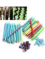 25Pcs Styling Plastic Hairdressing Spiral Hair Perm Rod-Short