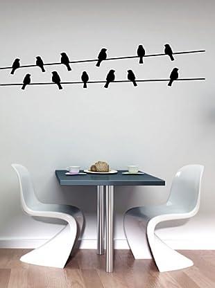 Vinilo Pájaros en cables