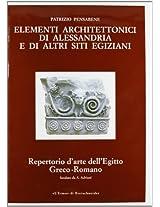 Elementi Architettonici Di Alessandria E Di Altri Siti Egiziani Serie C: 3 (Repertorio D'arte Dell'egitto Greco-Romano)