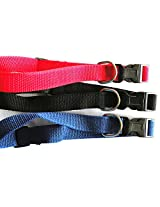 MeraPuppy adjustable dog collar for small & medium dogs - 1no per order - *Color may vary