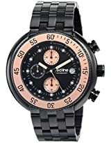 red line Men's RL-50038-BB-11-RB Driver Analog Display Japanese Quartz Black Watch